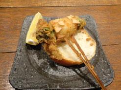 (写真3)イカと菜の花のガーリック風味