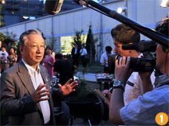 株式会社ぐるなび 滝 久雄会長。「熱海市との連携は、企業と自治体とのまったく新しい試み」と、意義を語った