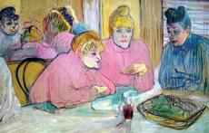 ロートレックの絵にはカフェ、レストラン、居酒屋など食のシーンが多く登場。食に対するこだわりの強さが伺える
