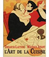 ロートレックのレシピをまとめた『独身モモ氏の料理法』(1930年刊。日本ではこの本をもとにしたレシピ集『ロートレックの食卓』が2009年に出版されている)。モモはロートレックがペンネームとして使っていた名前