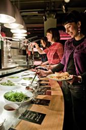 おいしく、質の高いベジタリアン料理が好評。「ミート・フリー・マンデー」が拡大しているのも、料理の質の高さがひとつの要因といえる