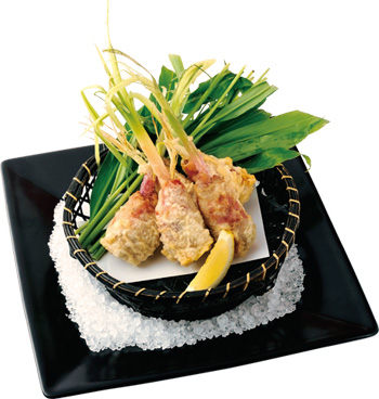 谷中生姜とエシャロットのソーセージフリット