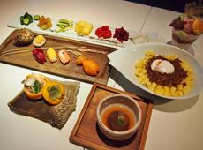 台湾で採れるフルーツなどにこだわった創作和食のフルコース。和食は海を越え、台湾でフルーツと融合し、進化を遂げている