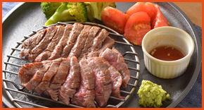 黒毛和牛ランプの燻製ステーキ