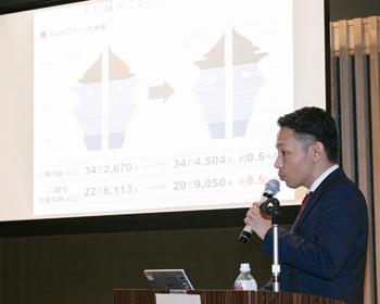 データも用いて、外国人集客の必要性やポイントなどを語る、ぐるなび埼玉営業所 所長の沼田智裕