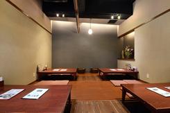 2階の掘りごたつ席。観光途中の食事や、地元住民の宴会に利用されている