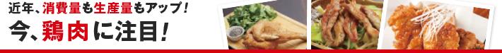 近年、消費量も生産量もアップ! 今、鶏肉に注目!