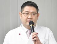 講演者は野村氏(写真)。「精進料理はベジタリアンなどを含め、様々な食の文化や習慣を持つ人に提供できる料理」と紹介。さらに、「外国人には日本料理に込められた精神的な教えを伝えることも大切」と力説した。