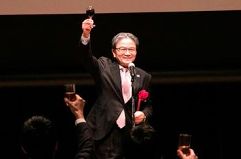 文化庁長官・宮田氏の「いやさかに!」という繁栄を願う呼びかけで、懇親会がスタート