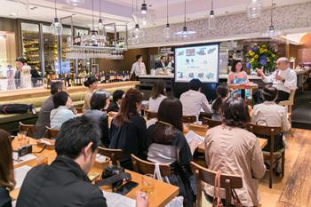 会場には多くの記者が集まり、スペインの食に対する関心の高さがうかがわれた
