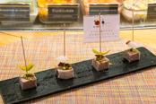 「Bikini TAPA」で提供される「スペイン産ウサギとピスタチオのテリーヌ~ペドロヒメネスビネガーのソース~」(778円)
