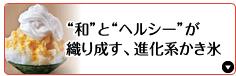 """""""和""""と""""ヘルシー""""が織り成す、進化系かき氷"""