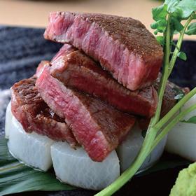 黒毛和牛A4以上の「ヘレステーキ」(4,082円)は柔らかく、余分な脂がないのが特徴