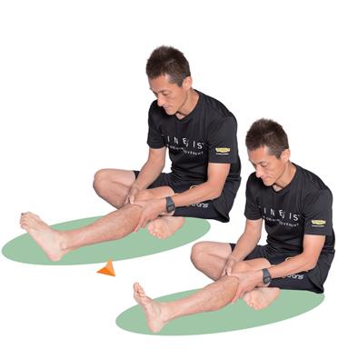 下腿の側面にある長腓骨筋に効いているのを意識しながら、20回。