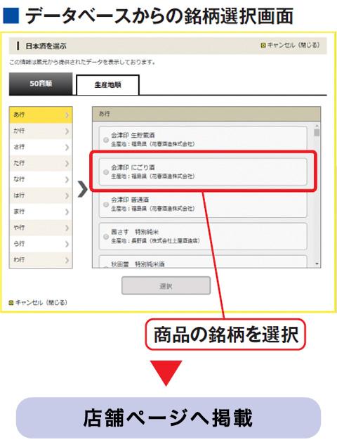 データベースからの銘柄選択画面