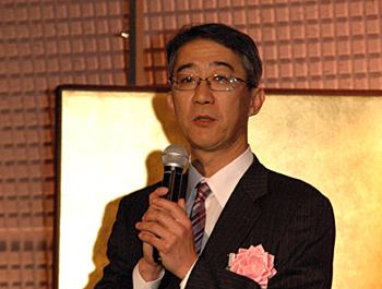 一般社団法人日本フードサービス協会第17代会長の菊地唯夫氏が「受賞者の方々を見習い、日本の食文化を尊重し、日本らしい外食産業の在り方を追求していきたい」と語った