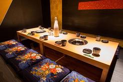 高級感のある掘りごたつの個室。接待や企業宴会での利用が多い