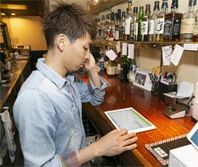 電話で予約を受ける際は、その場で「ぐるなび台帳」で空席を確認。予約に関するミスが減ったという