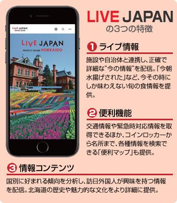 LIVE JAPANの3つの特徴