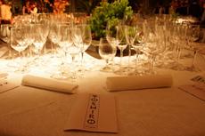 松久氏の料理には新潟県佐渡市、北雪酒造の純米吟醸「NOBU」が提供されるなど、それぞれのシェフの料理に合った日本酒やシャンパン、ワインなどが添えられた