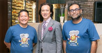 ガガン氏(右)と福山氏(左)。中村氏(中央)の司会で行われたトークショーは大いに盛り上がった